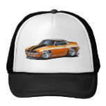1969 Camaro Orange-Black Top Car Trucker Hat