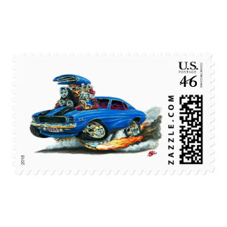 1969 Camaro RS SS Blue-Black Car Postage Stamps