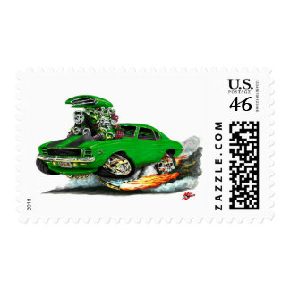 1969 Camaro RS SS Green-Black Car Stamps