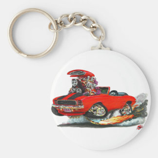 1969 Camaro RS SS Red-Black Convertible Basic Round Button Keychain