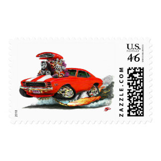 1969 Camaro RS SS Red-White Car Stamps