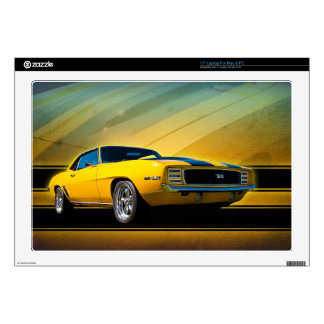 """1969 Camaro SS Decal For 17"""" Laptop"""