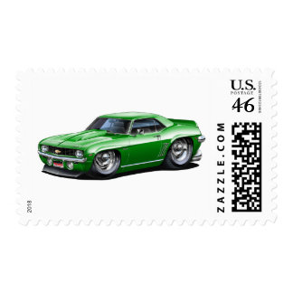 1969 Camaro SS Green Car Postage Stamps
