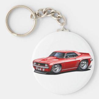 1969 Camaro SS Red Car Basic Round Button Keychain