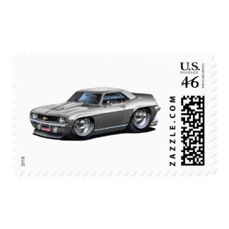 1969 Camaro SS Silver Car Postage Stamps