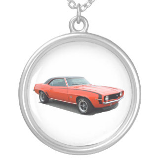 1969 Camaro SS Silver Plated Necklace