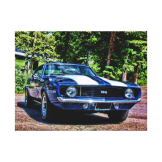 1969 camaro ss super sport muscle car canvas print
