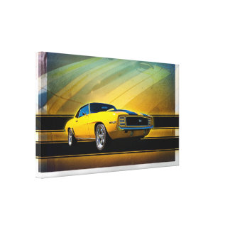 1969 Camaro SS Wrapped Canvas Canvas Print
