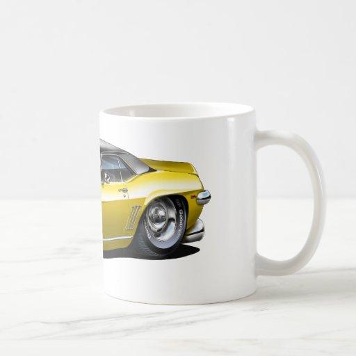 1969 Camaro SS Yellow-Black Top Car Mugs