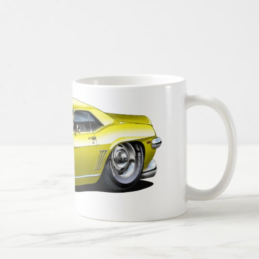 1969 Camaro Yellow-Black Car Mug