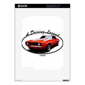 1969_camaro_yenko_orange decal for iPad 2