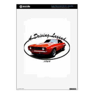 1969_camaro_yenko_orange skins for iPad 3