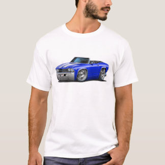 1969 Chevelle Blue-White Convertible T-Shirt