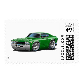 1969 Chevelle Green Car Postage