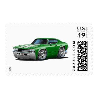 1969 Chevelle Green-White Car Postage