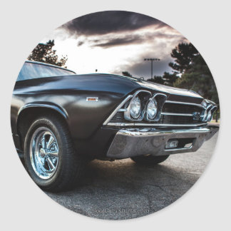 1969 Chevelle Photography Classic Round Sticker
