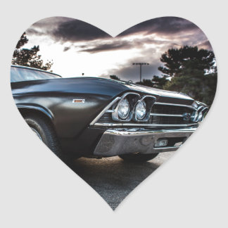 1969 Chevelle Photography Heart Sticker