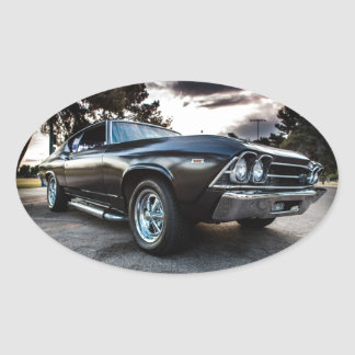 1969 Chevelle Photography Oval Sticker