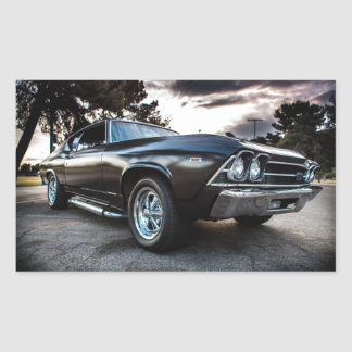 1969 Chevelle Photography Rectangular Sticker