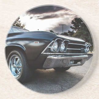 1969 Chevelle Photography Sandstone Coaster