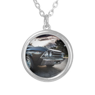 1969 Chevelle Photography Silver Plated Necklace