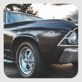 1969 Chevelle Photography Square Sticker