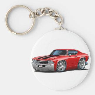 1969 Chevelle Red-Black Car Key Chain