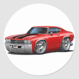 1969 Chevelle Red-Black Car Stickers