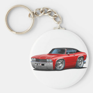 1969 Chevelle Red-Black Top Car Key Chain