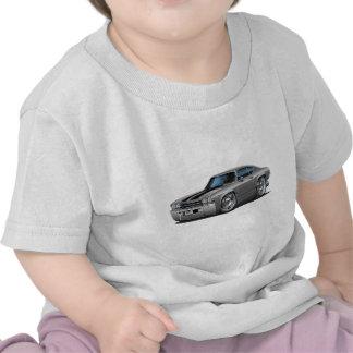 1969 Chevelle Silver-Black Car T-shirt