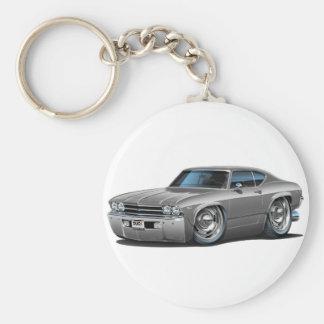 1969 Chevelle Silver Car Keychains