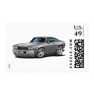 1969 Chevelle Silver-White Car Stamps