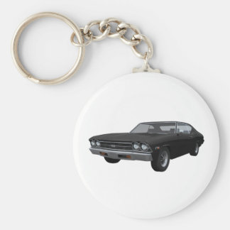 1969 Chevelle SS: Black Finish Keychain