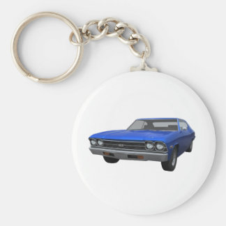 1969 Chevelle SS: Blue Finish Keychain