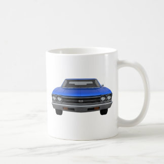 1969 Chevelle SS: Blue Finish Classic White Coffee Mug