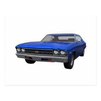 1969 Chevelle SS: Blue Finish Postcard