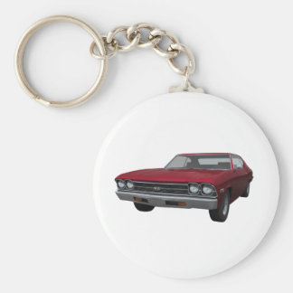 1969 Chevelle SS: Candy Apple Finish Keychains