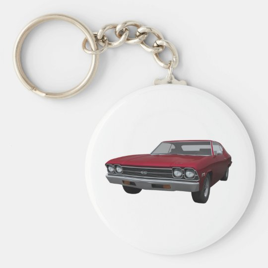 1969 Chevelle SS: Candy Apple Finish Keychain
