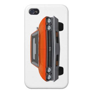 1969 Chevelle SS Orange Finish Cases For iPhone 4