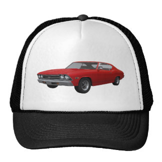 1969 Chevelle SS: Red Finish Mesh Hats