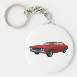 1969 Chevelle SS: Red Finish Keychain