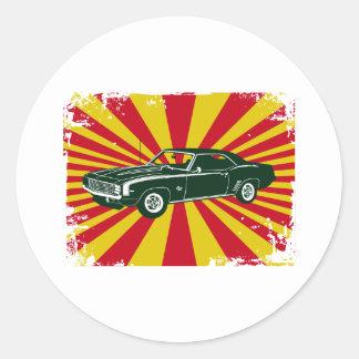 1969 Chevrolet Camaro SS Round Sticker