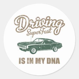 1969 Chevrolet Camaro SS Round Stickers