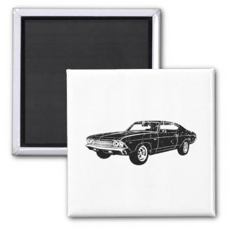 1969 Chevrolet Chevelle 396 SS 2 Inch Square Magnet