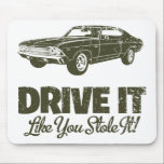 """1969 Chevrolet Chevelle 396 SS Mouse Pad<br><div class=""""desc"""">1969 Chevrolet Chevelle 396 SS Muscle Car Custom Merchandise Gifts Design Ideas For Sale on T Shirts for Men,  Women and Kids,  Sweatshirts,  Mugs,  Caps,  Bags,  Magnets,  Buttons,  Aprons, Mousepad and Ties By MuscleDude</div>"""