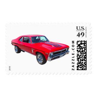 1969 Chevrolet Nova 427 Muscle Car Stamp