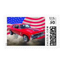 1969 Chevrolet Nova 427 With American Flag Postage