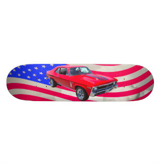 1969 Chevrolet Nova 427 With American Flag Skateboard