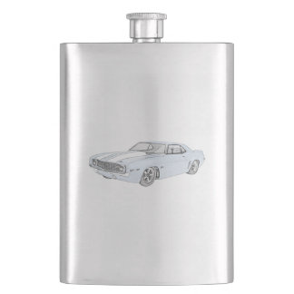 1969 Chevy Camaro Hip Flask