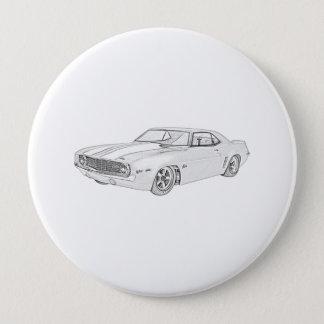 1969 Chevy Camaro Pinback Button